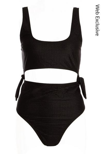 Black Cut Out Swimsuit